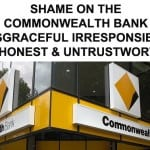 SHAME ON COMMONWEALTH BANK