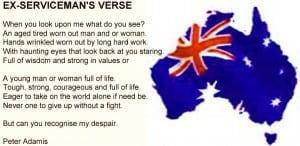 Ex servicemans verse