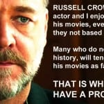russell crowe and fact